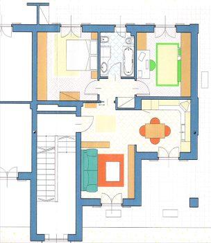 Planimetria villaggio il grappolo for Appartamenti a due piani